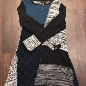 Style & Co Patchwork Sweater Tunic Dress